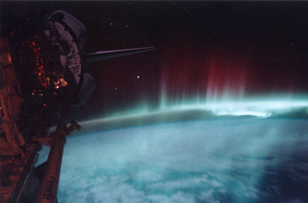 Aurora Australis photographed from the Space Shuttle