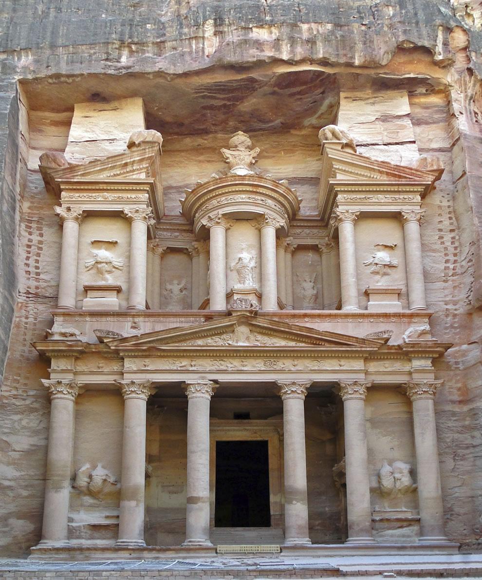 Facade of Al Khazneh, Petra, Jordan