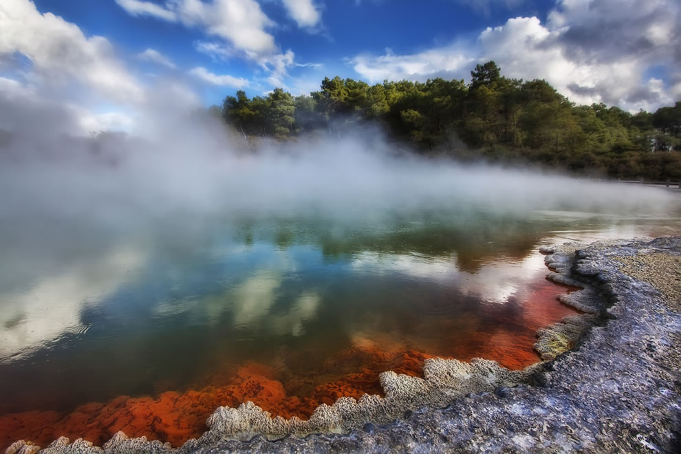 Famous geothermal pool Waiotapu, New Zealand - The Champagne Pool