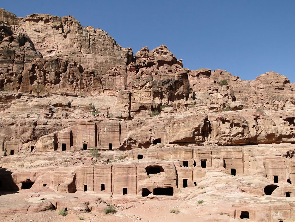The tombs of the Street of Facades, Petra, Jordan