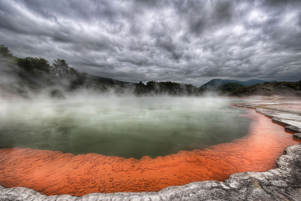 Champagne Pool at the Artist's Palette at the Wai-o-tapu Thermal Wonderland