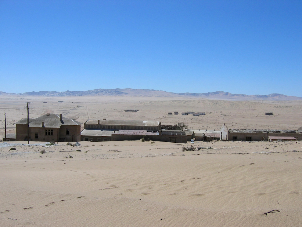 Kolmanskop ghost town being devoured by the desert