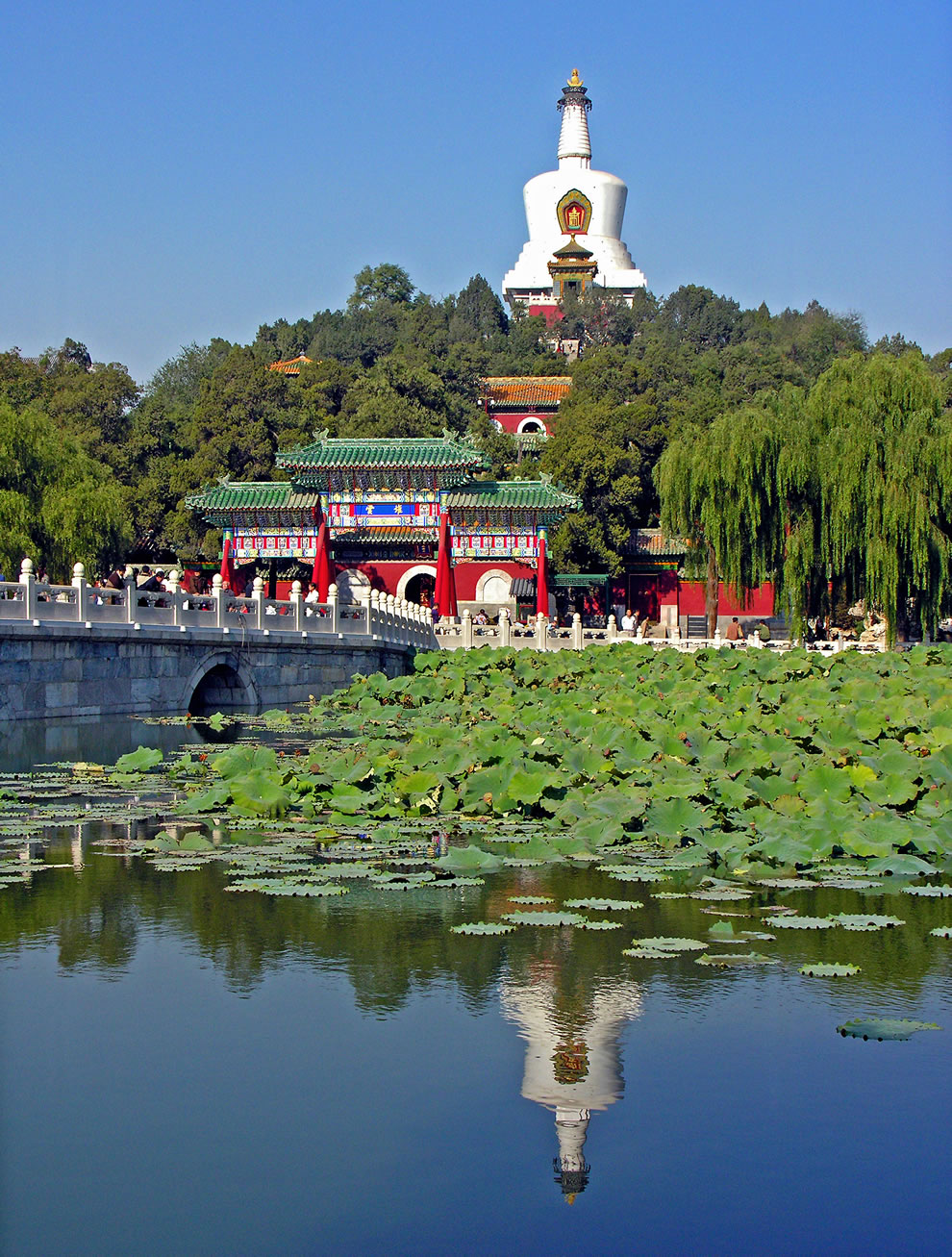 Beihai Park imperial garden in China