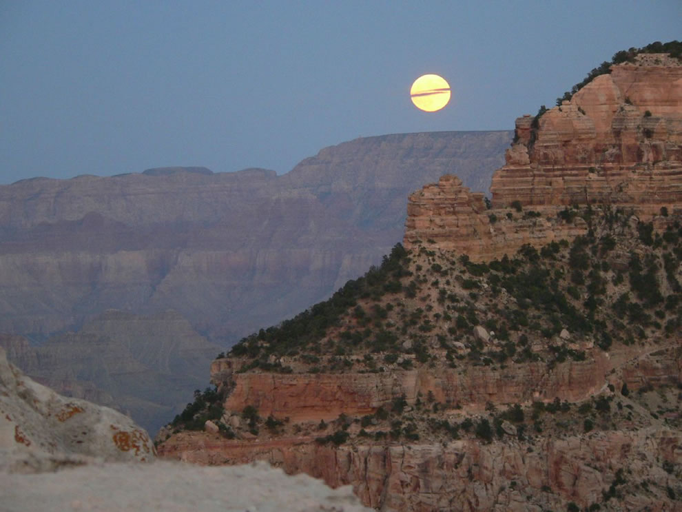 Full Moon over the Grand Canyon