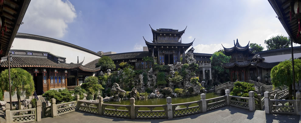 Hu Xueyan's former residence and Chinese garden in Hangzhou, China