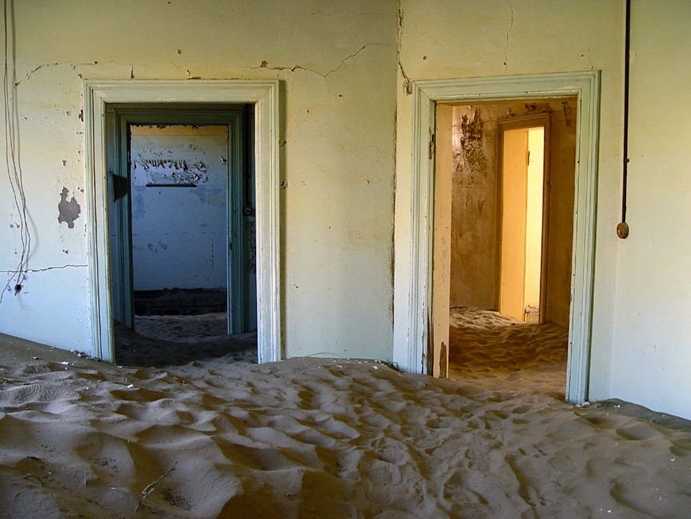 ghost town Kolmanskop abandoned to the desert sand