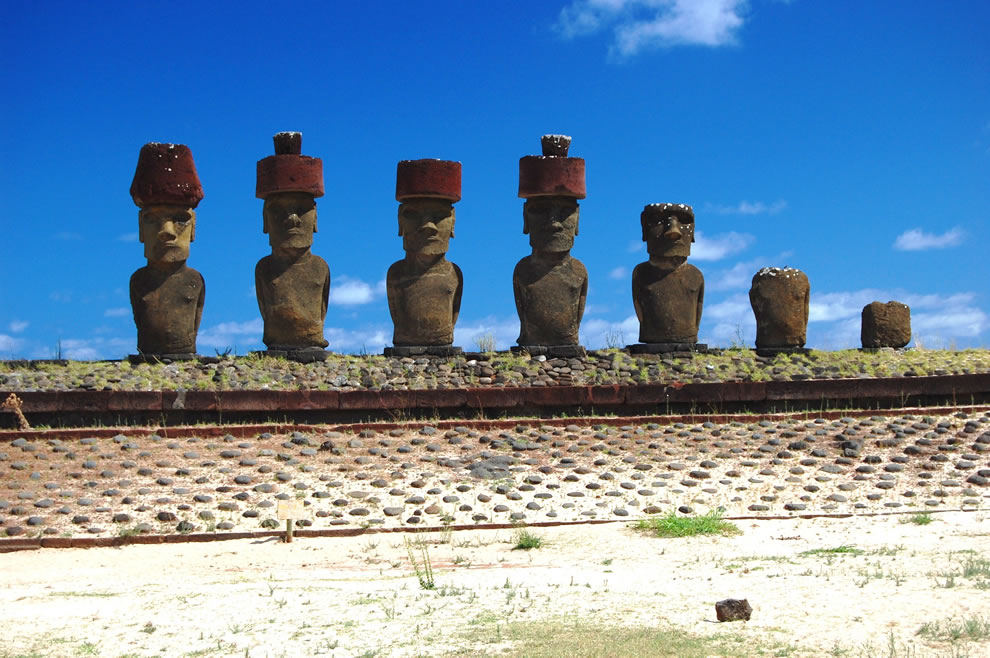 Moai NOAA's Small World Collection on Easter Island, Chile