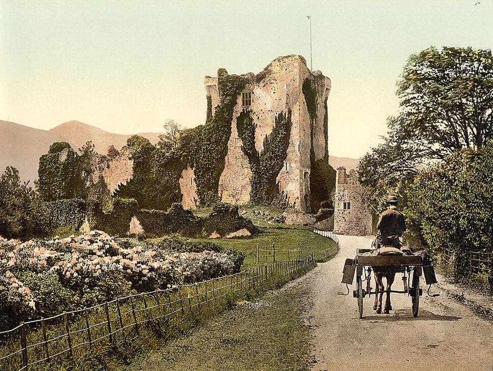 Ross Castle, II, Killarney Photochrom prints--Color--1890s Ireland