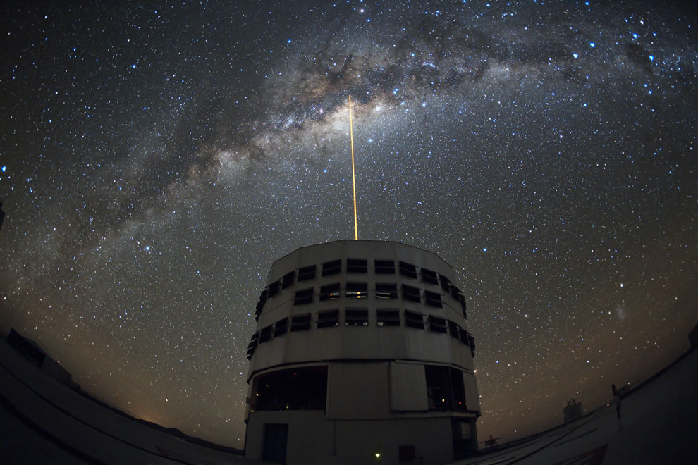ESO - Shooting a Laser at the Galactic Center