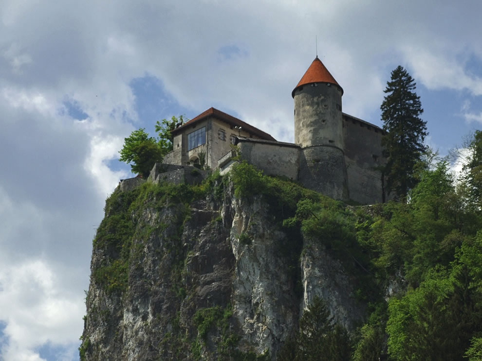 Slovenia - Bled Castle, view from below