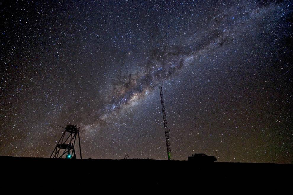The Milky Way over Cerro Armazones