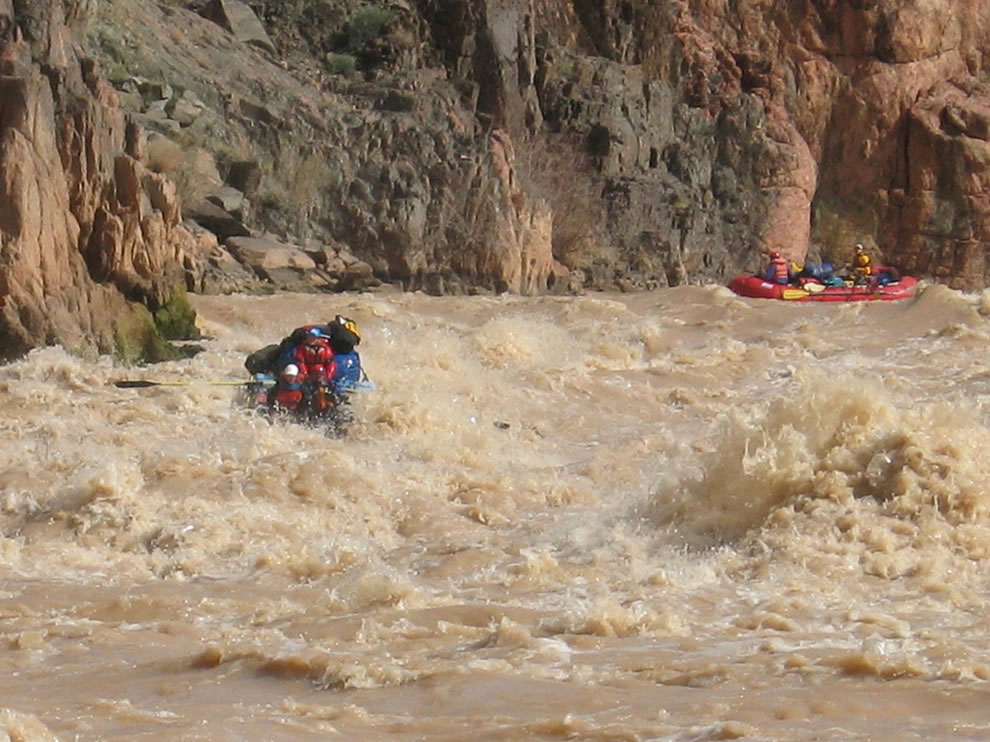 muddy whitewater rafting Grand Canyon