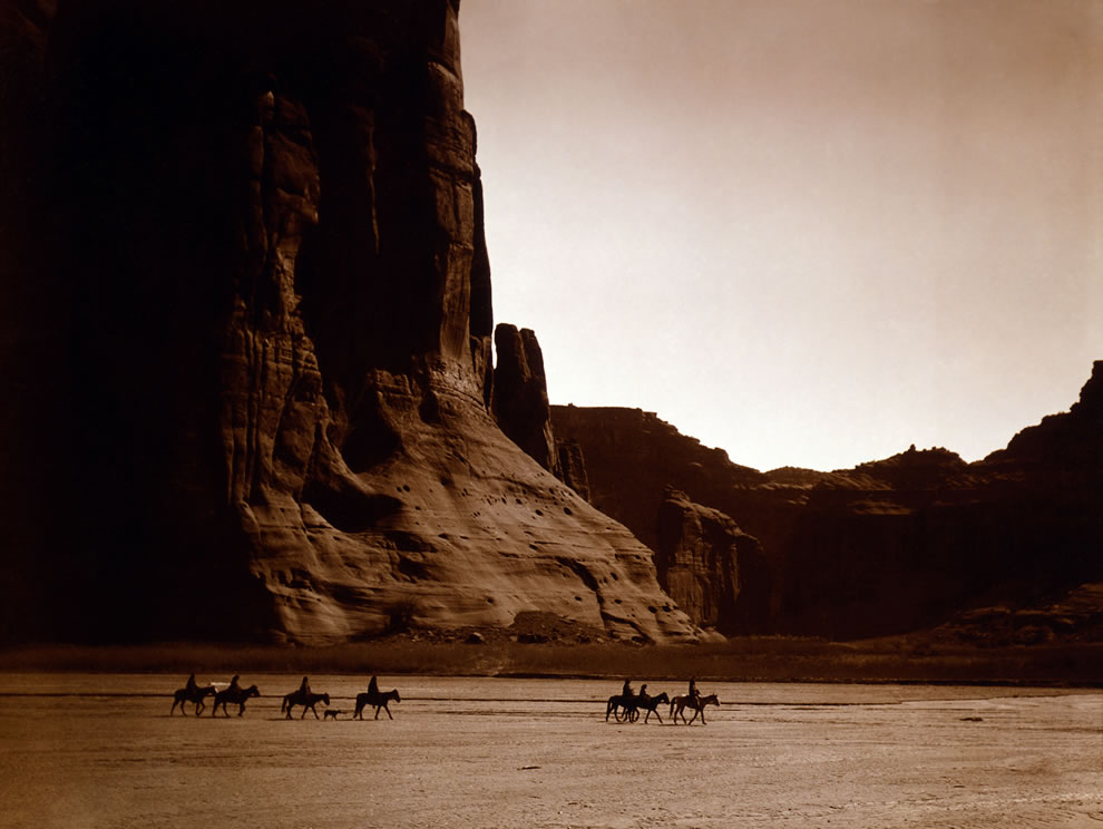 Canyon de Chelly, Navajo by Edward S. Curtis