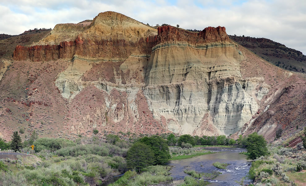 Cathedral Rock in the John Day Fossil Beds National Monument