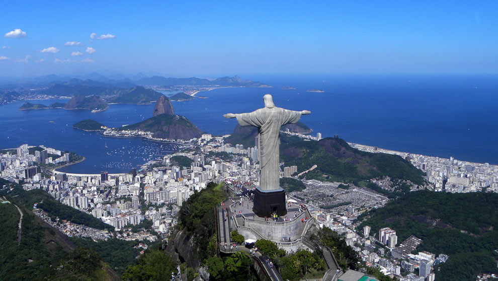From Back - Christ the Redeemer overlooking Rio De Janeiro
