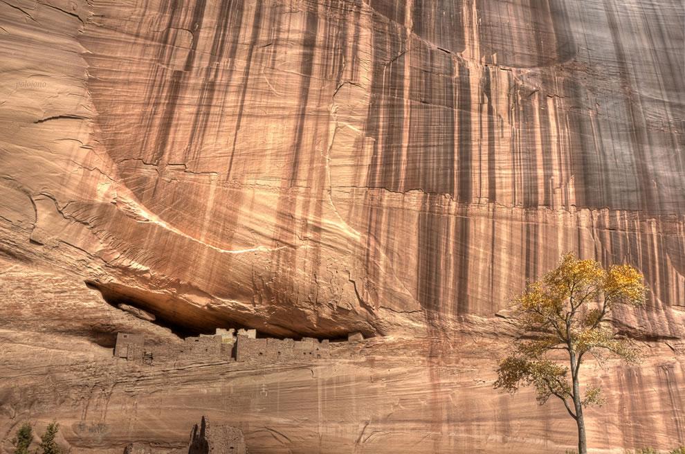 Navajo dwellings at Canyon de Chelly Arizona