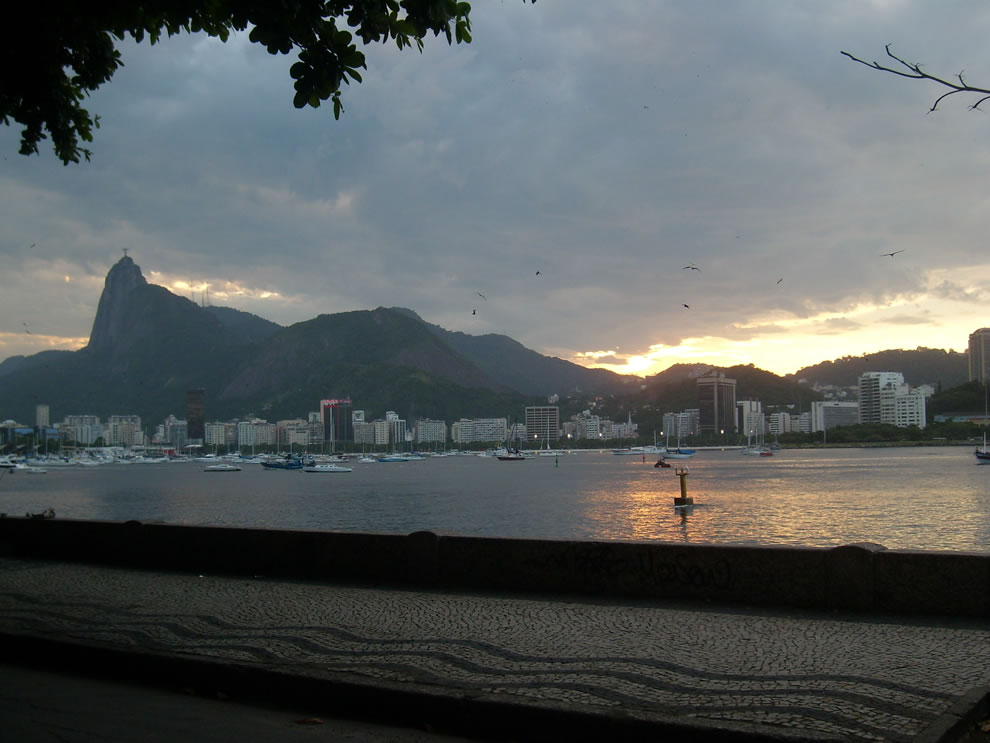 Rio de Janeiro&#039;s Jesus Christ seen by Urca