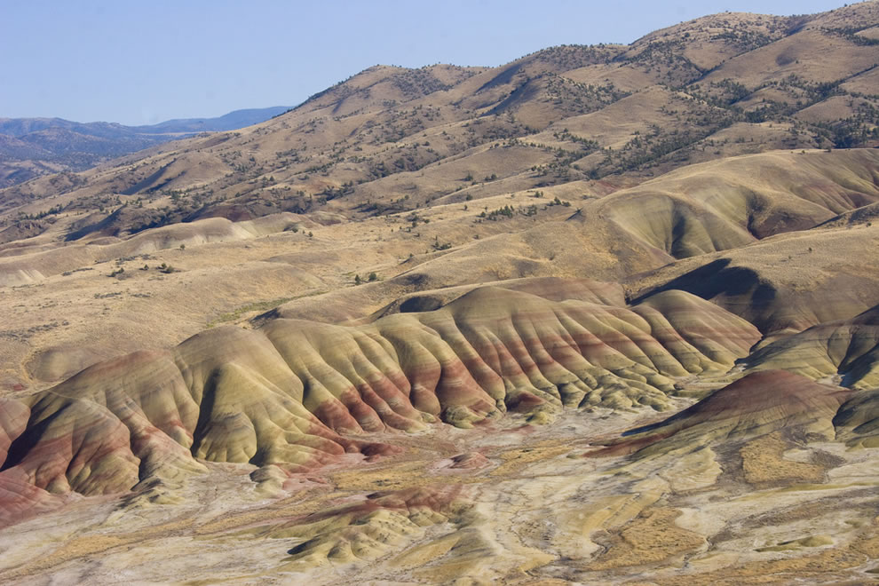 Strata at the Fossil Beds of Painted Hills John Day National Monument