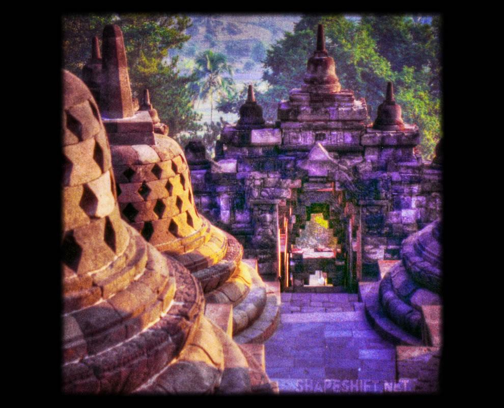approaching emptiness Borobudur stupa