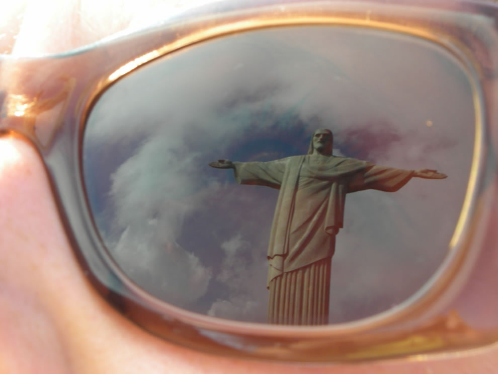 reflection of christ the redeemer statue