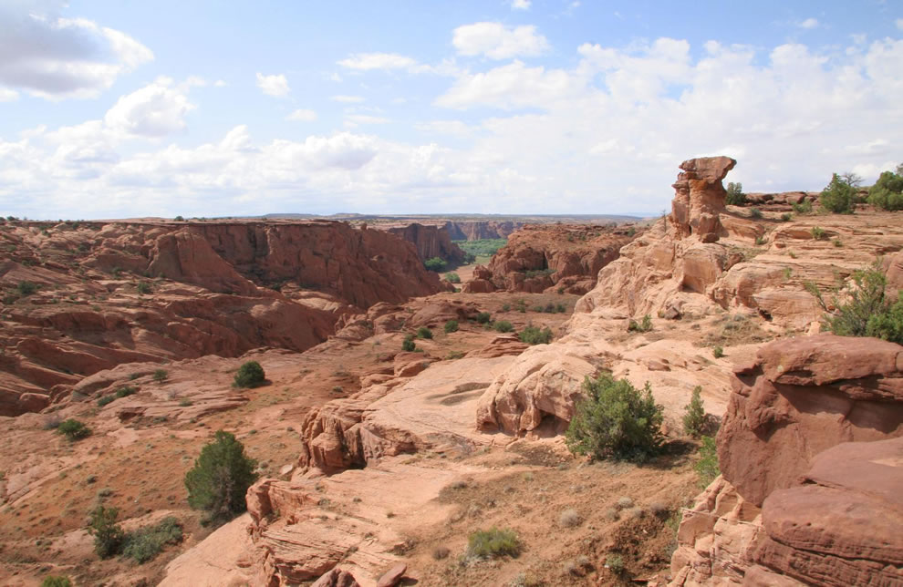 view from the head of Cotton wood canyon at Canyon de Chelly Monument