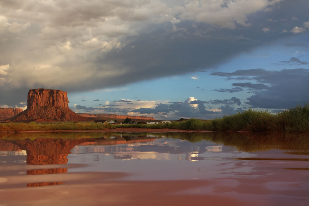 After the rain comes the sun - Mitchell Butte - Monument Valley