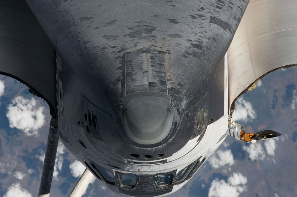 Endeavour Nose - Coming in to dock at ISS