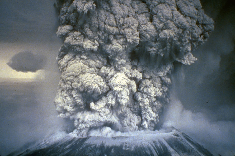 FEMA Photo by NOAA News taken on 05-18-1980 mount saint helens erupting