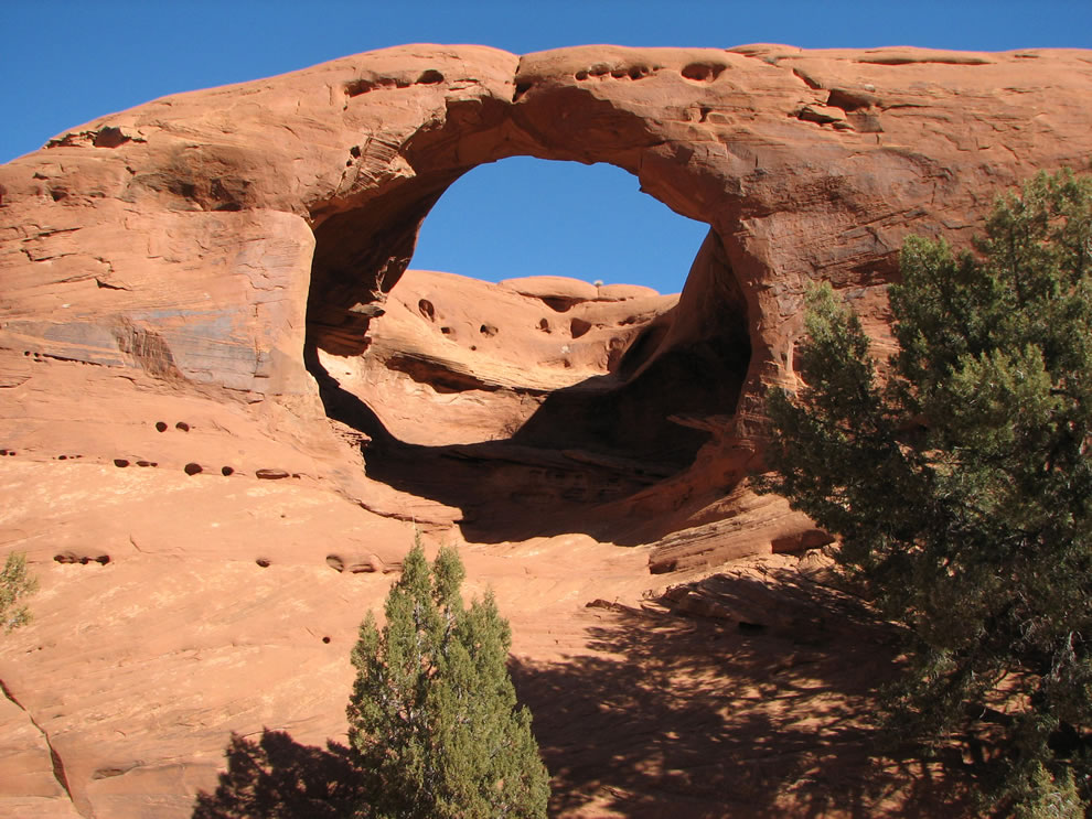 Honeymoon Arch, Mystery Valley, Monument Valley Navajo Tribal Park, Arizona, USA