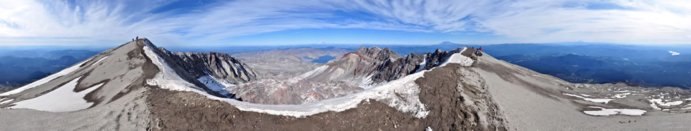 Mount St Helens Summit Panorama in 2009