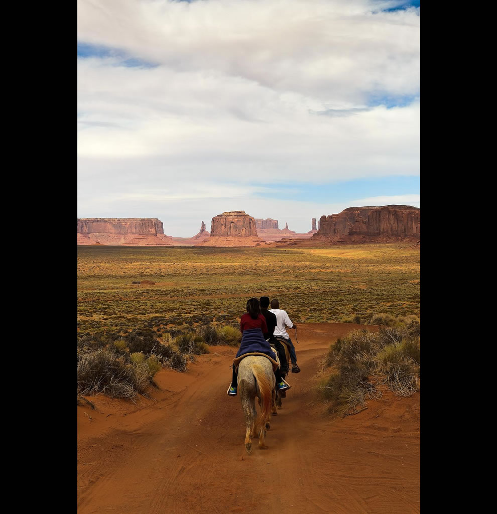 Riding at Monument Valley - Navajo