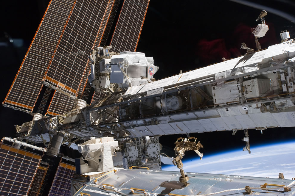 STS-134 Docked at the International Space Station