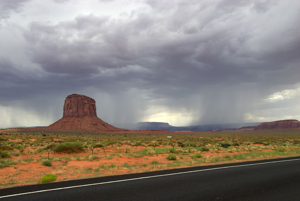 Storm in Monument Valley
