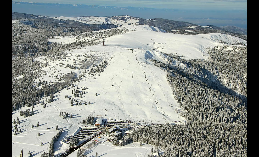 Aerial Feldberg Mountain Seebuck