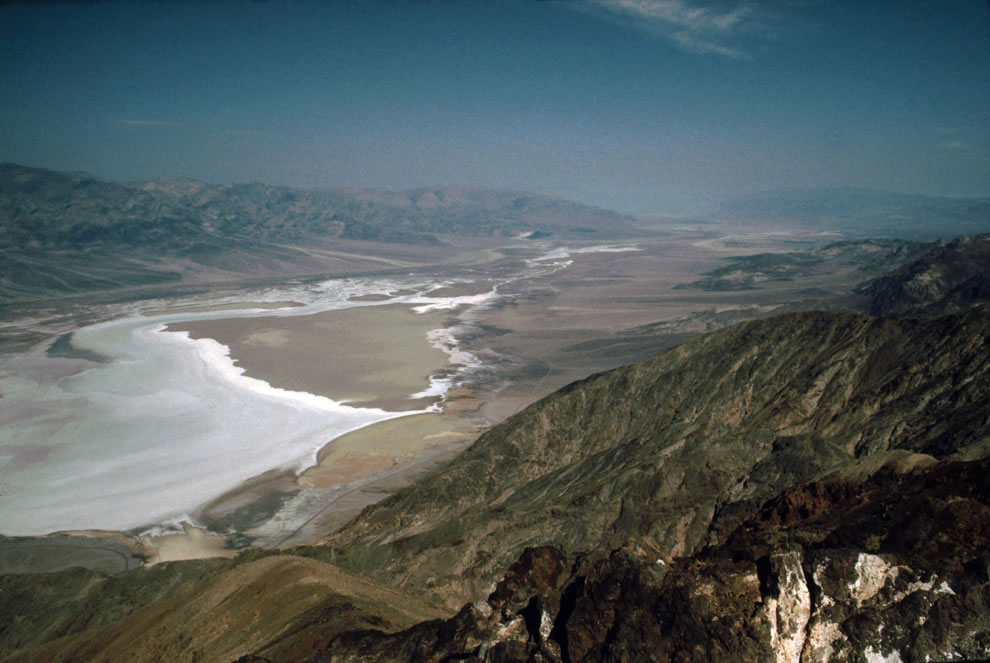 Death Valley from Dante's View - the Salt shoreline