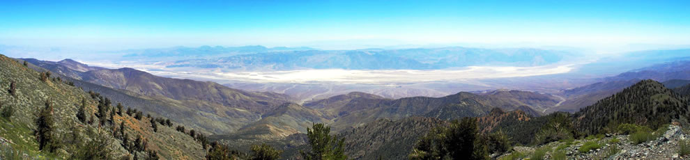 Death Valley, seen from the west on Telescope Peak in the Panamint Range, Death Valley National Park, California