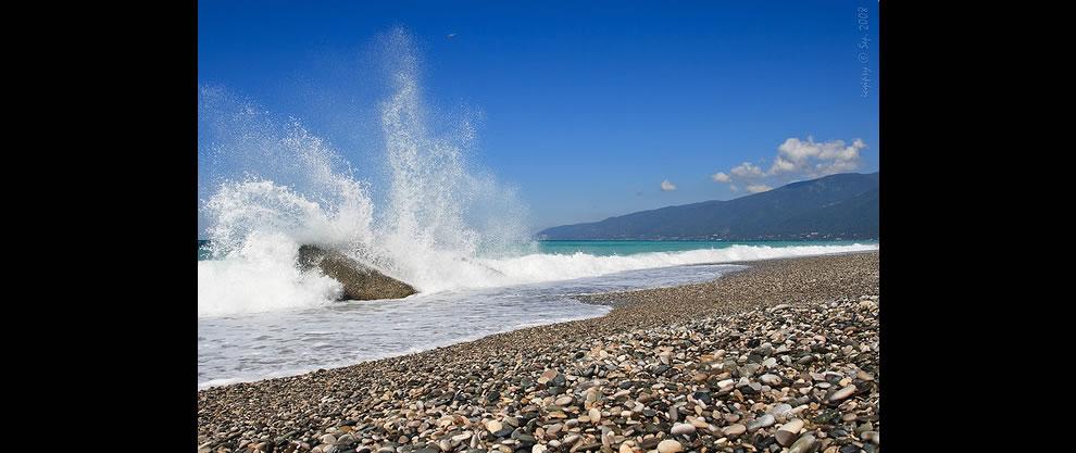 Gagra beach - semi-abandoned paradise