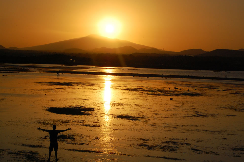 Jeju Island  Seongsan Ilchulbong 성산 일출봉 which means sunrise