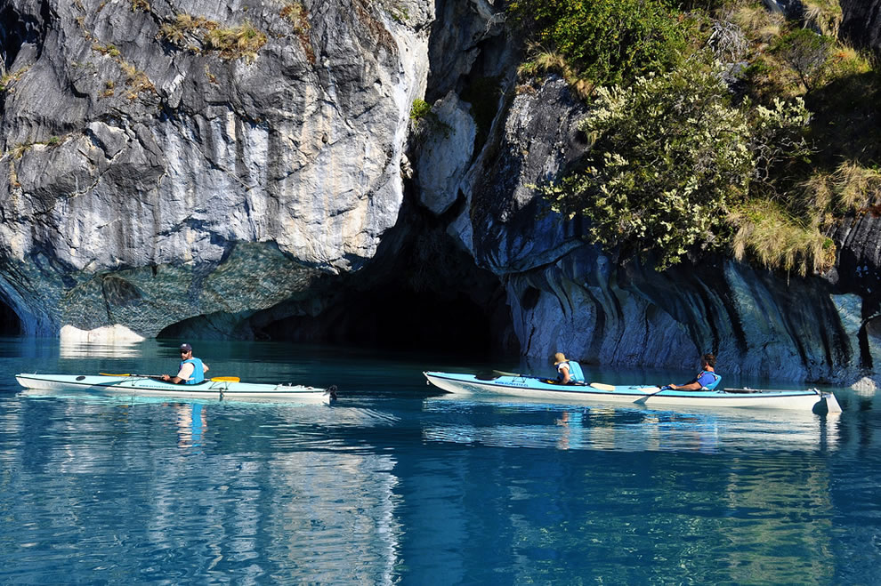 Kayaking Cathedral Marble - Patagonia Chile