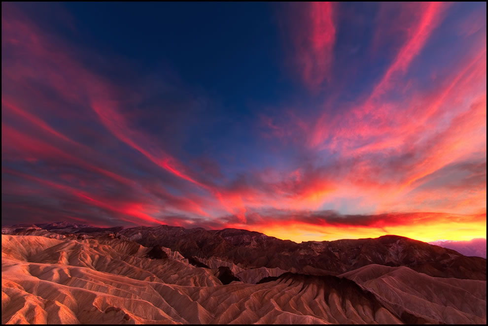 Sunset at Zabriskie Point in Death Valley, California