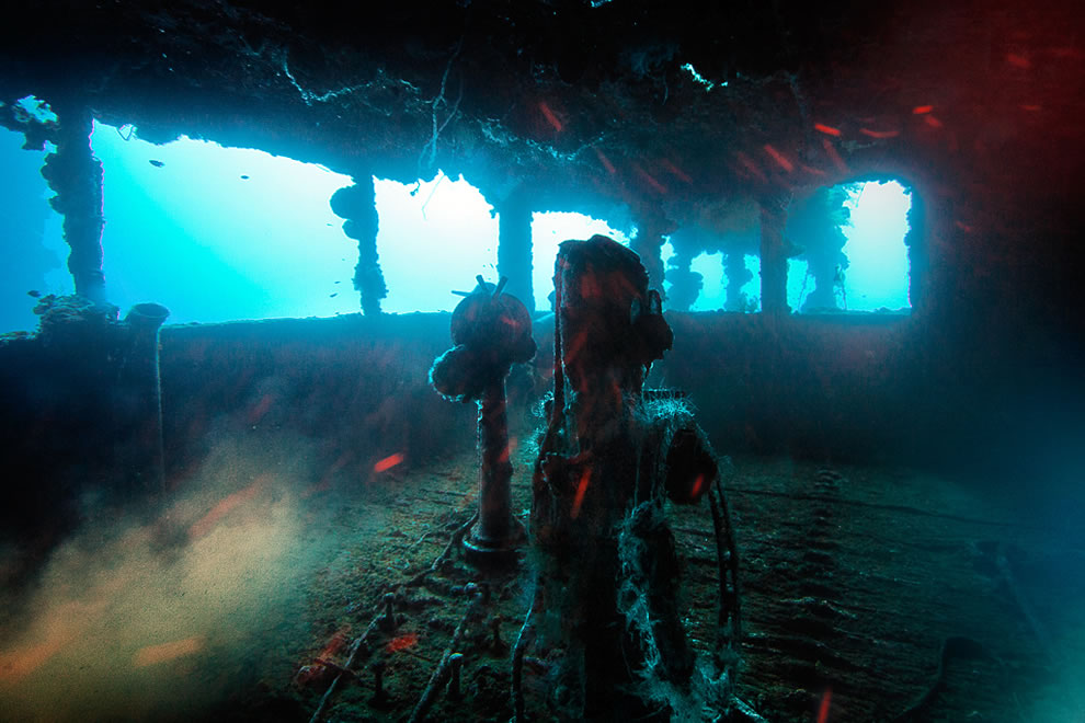 The bridge of the Nippo Maru