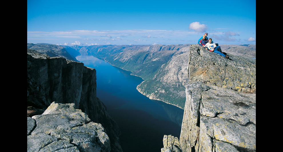 The fjord Lysefjorden as seen from Kjerag
