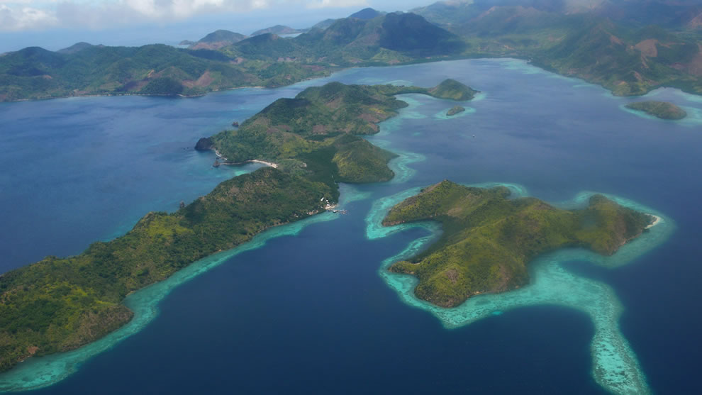 Aerial view of Coron, Palawan