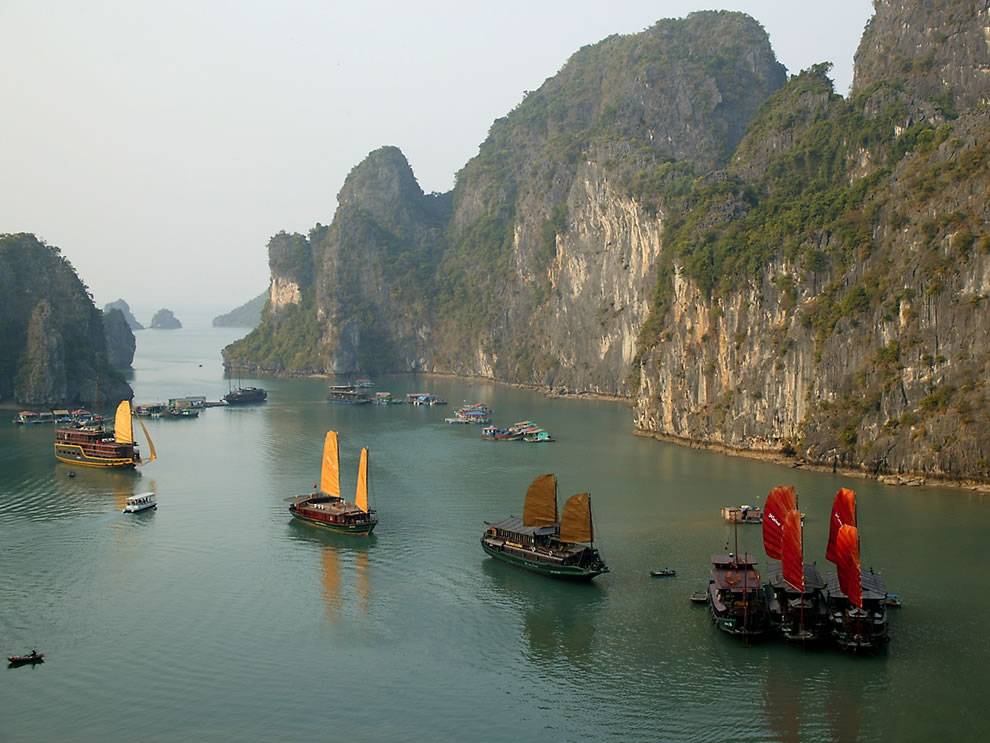 flying seaboats at Halong Bay