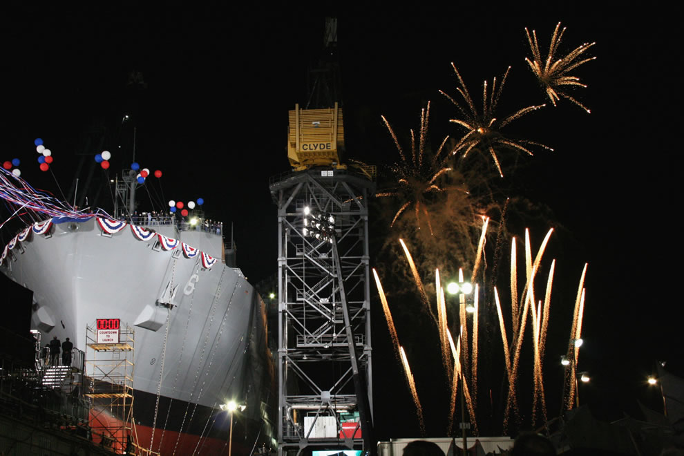 detonate as the Military Sealift Command dry cargo-ammunition ship USNS Amelia Earhart