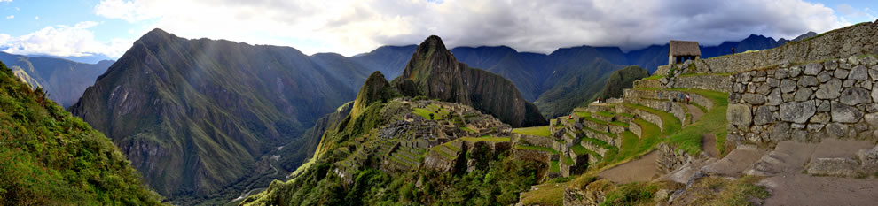 Machu Picchu&#039;s sunset panorama
