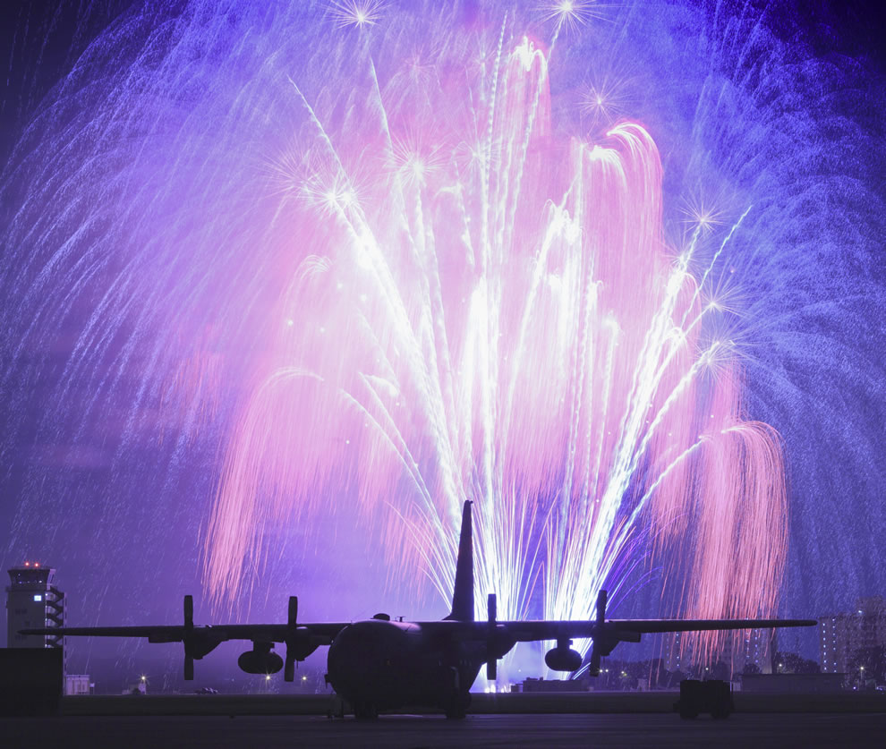 USAF Fireworks celebration