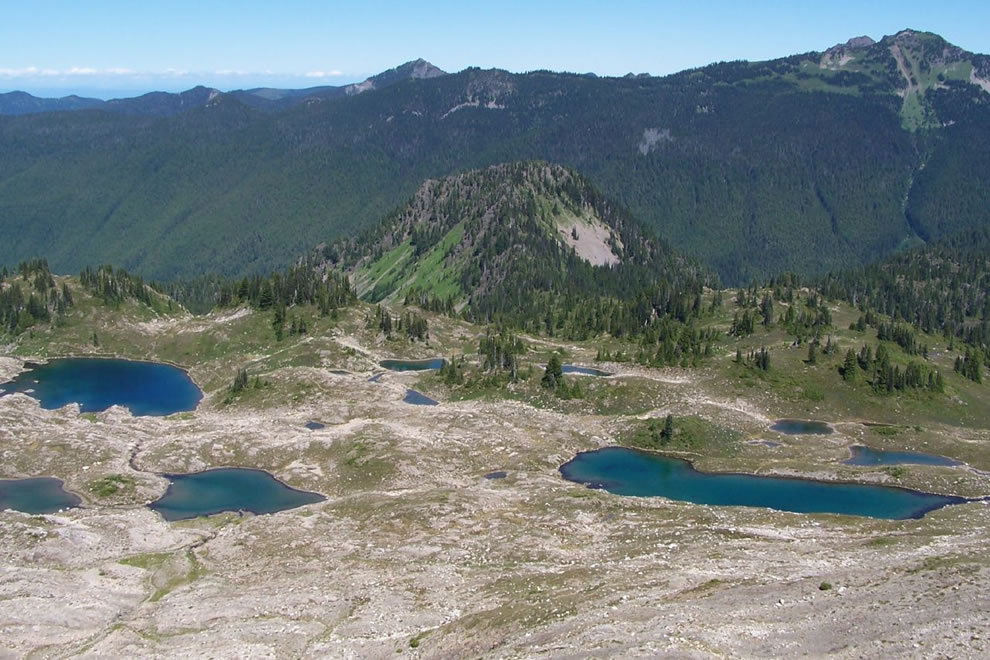 mountain lakes, olympic national park