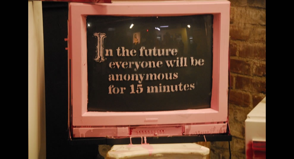 Banksy on Anonymous
