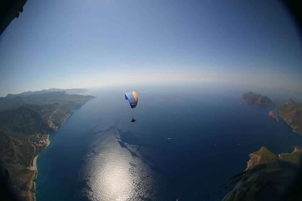 Dual Tandem Paragliding over Fethiye, Muğla, Turkey